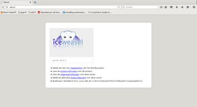 screenshot of Iceweasel
